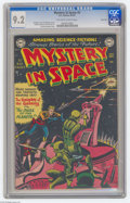 Golden Age (1938-1955):Science Fiction, Mystery in Space #3 River City pedigree (DC, 1951) CGC NM- 9.2Off-white to white pages. Carmine Infantino drew this issue's...