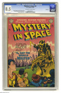 "Golden Age (1938-1955):Science Fiction, Mystery in Space #6 River City pedigree (DC, 1952) CGC VF+ 8.5Off-white to white pages. In a cold winter like this one, ""Th..."