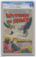 Golden Age (1938-1955):Science Fiction, Mystery in Space #7 River City pedigree (DC, 1952) CGC VF+ 8.5Off-white pages. A story drawn by Alex Toth is the highlight ...