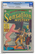 Golden Age (1938-1955):Horror, Sensation Mystery #111 River City pedigree (DC, 1952) CGC VF 8.0Off-white to white pages. Here's just the second issue of t...