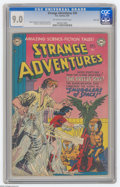 Golden Age (1938-1955):Science Fiction, Strange Adventures #20 River City pedigree (DC, 1952) CGC VF/NM 9.0Off-white to white pages. DC's science fiction standbys ...