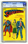 Golden Age (1938-1955):Superhero, Superman #30 (DC, 1944) CGC VF/NM 9.0 Off-white to white pages. This key issue has the origin and first appearance of Mr. Mx...
