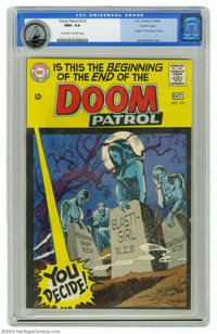 Doom Patrol #121 Pacific Coast pedigree (DC, 1968) CGC NM+ 9.6 Off-white to white pages. Joe Orlando's cover for this is...
