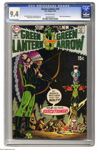 Green Lantern #79 (DC, 1970) CGC NM 9.4 Off-white pages. Black Canary appearance. Neal Adams cover and art. This is the...