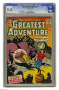 Silver Age (1956-1969):Science Fiction, My Greatest Adventure #14 River City pedigree (DC, 1957) CGC NM 9.4Off-white pages. Check out this memorable gorilla cover ...