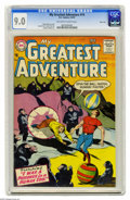 Silver Age (1956-1969):Science Fiction, My Greatest Adventure #14 River City pedigree (DC, 1957) CGC VF/NM 9.0 Off-white pages. Gorilla cover by Ruben Moreira. Art ...