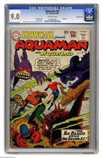 Showcase #31 Aquaman and Aqualad - Western Penn pedigree (DC, 1961) CGC VF/NM 9.0 Off-white pages. If there's one thing...
