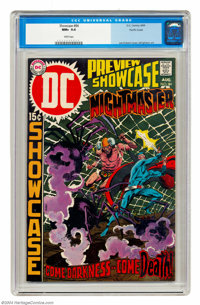 Showcase #84 Nightmaster - Pacific Coast pedigree (DC, 1969) CGC NM+ 9.6 White pages. Joe Kubert cover. Bernie Wrightson...
