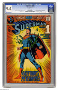 Bronze Age (1970-1979):Superhero, Superman #233 (DC, 1971) CGC NM 9.4 White pages. One of the key DC comics of the 1970s, this one really shook up Superman's ...