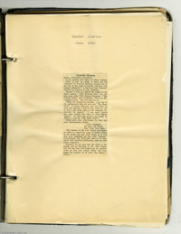 Julius Schwartz Clip Book. Featured in this lot is a scrap book containing clippings of correspondence to and from Juliu...