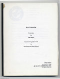 Memorabilia:Miscellaneous, Watchmen Screenplay (1988). This lot features a first draft copy of screenwriter Sam Hamm's as yet unused screenplay adaptat...