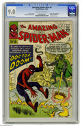 Silver Age (1956-1969):Superhero, The Amazing Spider-Man #5 (Marvel, 1963) CGC VF/NM 9.0 Off-white towhite pages. If Spider-Man had just been a regular reade...