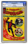 Silver Age (1956-1969):Superhero, Amazing Spider-Man, The #8 (Marvel, 1964) CGC NM- 9.2 Off-whitepages. Peter Parker gets to live out every bookworm's fantas...