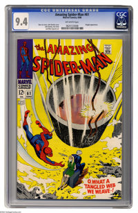 The Amazing Spider-Man #61 (Marvel, 1968) CGC NM 9.4 Off-white pages. Kingpin appearance. John Romita Sr. cover and art...