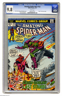 The Amazing Spider-Man #122 (Marvel, 1973) CGC NM/MT 9.8 White pages. The death of the Green Goblin at the climax of thi...