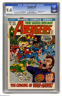 Avengers #98 (Marvel, 1972) CGC NM 9.4 Off-white to white pages. Clint Barton (who took on the identity of Goliath in th...