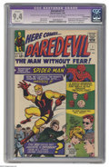 Silver Age (1956-1969):Superhero, Daredevil #1 (Marvel, 1964) CGC Apparent NM 9.4 Slight (P)Off-white to white pages. Bill Everett only ever penciled oneiss...