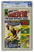 Silver Age (1956-1969):Superhero, Daredevil #1 (Marvel, 1964) CGC VF/NM 9.0 White pages. The ManWithout Fear made his debut appearance here. This historic fi...