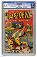 Silver Age (1956-1969):Superhero, Daredevil #2 Pacific Coast pedigree (Marvel, 1964) CGC NM 9.4 Whitepages. The Pacific Coast books are consistently among th...