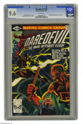 Modern Age (1980-Present):Superhero, Daredevil #168 (Marvel, 1981) CGC NM+ 9.6 White pages. This BronzeAge beauty is a key issue in the series for a couple of r...