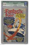 Silver Age (1956-1969):Superhero, Fantastic Four #3 (Marvel, 1962) CGC Qualified VF/NM 9.0 Off-whitepages. After wearing civilian clothes for two issues, the...