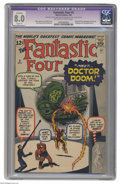 Silver Age (1956-1969):Superhero, Fantastic Four #5 (Marvel, 1962) CGC Apparent VF 8.0 Slight (P)Off-white to white pages. The origin and first appearance of...