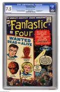 Silver Age (1956-1969):Superhero, Fantastic Four #7 (Marvel, 1962) CGC VF- 7.5 Off-white to white pages. This cover has the feel of one of those Atlas monster...