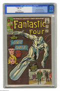"Silver Age (1956-1969):Superhero, Fantastic Four #50 (Marvel, 1966) CGC NM- 9.2 Off-white pages. The three-part story known to fans far and wide as ""The Galac..."