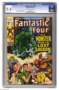 Fantastic Four #97 (Marvel, 1970) CGC NM 9.4 Off-white to white pages. Jack Kirby cover and art. Overstreet 2004 NM- 9.2...