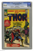 Silver Age (1956-1969):Superhero, Journey Into Mystery #105 (Marvel, 1964) CGC NM 9.4 Off-white to white pages. Mr. Hyde and the Cobra join forces to try and ...