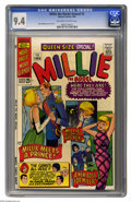 Silver Age (1956-1969):Romance, Millie the Model Annual #5 (Marvel, 1966) CGC NM 9.4 Off-white to white pages. Stan Goldberg cover and art. Overstreet 2004 ...