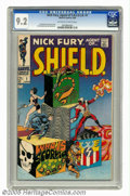 Silver Age (1956-1969):Superhero, Nick Fury, Agent of SHIELD #1 (Marvel, 1968) CGC NM- 9.2 Off-white to white pages. Jim Steranko cover and art. First appeara...