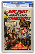 Silver Age (1956-1969):War, Sgt. Fury and His Howling Commandos #1 (Marvel, 1963) CGC VF- 7.5 Off-white pages. Everyone's favorite war heroes, Nick Fury...