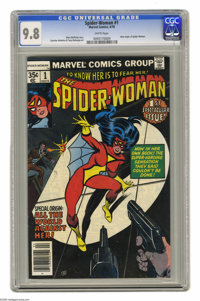 Spider-Woman, The #1 (Marvel, 1978) CGC NM/MT 9.8 White pages. New origin of Spider-Woman. Mask added to Spider-Woman's...