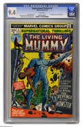 Bronze Age (1970-1979):Horror, Supernatural Thrillers #5 (Marvel, 1973) CGC NM 9.4 White pages.First appearance of the Living Mummy. George Tuska and John...
