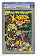 Bronze Age (1970-1979):Superhero, X-Men #94 (Marvel, 1975) CGC NM- 9.2 Off-white to white pages. Theoriginal X-Men series had languished in popularity, final...