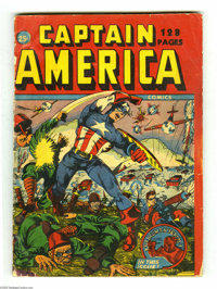 Captain America Comics 132-Page Canadian Annual (Timely, 1942) Condition: PR. This rare comic is a real eye-opener. It's...