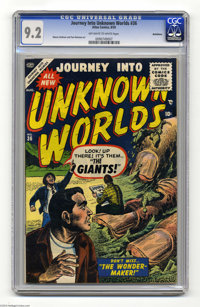 Journey Into Unknown Worlds #36 Bethlehem pedigree (Atlas, 1955) CGC NM- 9.2 Off-white to white pages. Manny Stallman an...