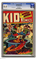 Golden Age (1938-1955):Superhero, Kid Komics #3 (Timely, 1943) CGC VF 8.0 Off-white pages. Overstreet and CGC credit Alex Schomburg with this issue's cover ar...