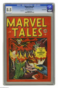 Golden Age (1938-1955):Horror, Marvel Tales #94 Canadian Edition (Bell Features, 1949) CGC VF+ 8.5Off-white to white pages. This is only the second issue ...