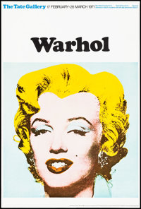 "Marilyn Monroe by Andy Warhol (Tate Gallery, 1971) Rolled, Very Fine/Near Mint. British Art Gallery Poster (20"" X 3..."