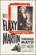 "Movie Posters:Crime, Flaxy Martin & Other Lot (Warner Brothers, 1949) Folded, Very Fine-. One Sheets (2) (27"" X 41""). Crime.... (Total: 2 Items)"