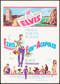 """Movie Posters:Elvis Presley, Fun in Acapulco & Other Lot (Paramount, 1963) Fine+. TrimmedWindow Cards (2) (approx. 14"""" X 19.5""""). Elvis Presley.... (Total: 2Items)"""