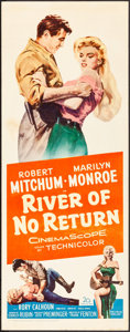 "Movie Posters:Western, River of No Return (20th Century Fox, R-1961) Rolled, Fine/Very Fine. Insert (14"" X 36""). Western...."