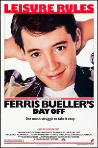 """Ferris Bueller's Day Off (Paramount, 1986) Folded, Very Fine-. One Sheet (27"""" X 41""""). Comedy"""