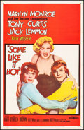"""Movie Posters:Comedy, Some Like It Hot (United Artists, 1959) Fine/Very Fine on Linen. One Sheet (27"""" X 41""""). Comedy...."""