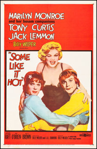 "Some Like It Hot (United Artists, 1959) Fine/Very Fine on Linen. One Sheet (27"" X 41""). Comedy"