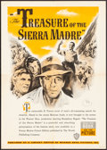 "Movie Posters:Film Noir, The Treasure of the Sierra Madre (Warner Brothers, 1948) Folded, Very Fine-. Book Poster (15.75"" X 22""). Film Noir...."