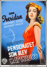 """It All Came True (Warner Brothers, 1940). Folded, Very Fine+. Swedish One Sheet (27.5"""" X 39.55"""") Gosta Aberg A..."""