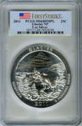 Modern Bullion Coins, 2011 25C Glacier National Park Five Ounce Silver, First Strike MS68 Deep Mirror Prooflike PCGS. PCGS Population: (88/3230)....